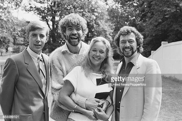 Presentation team for the ITV Television series 'Game for a Laugh' pictured together in London on 21st August 1983. From left to right: Henry Kelly,...
