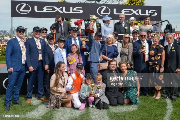 Presentations to connections of Vow And Declare after winning the Lexus Melbourne Cup at Flemington Racecourse on November 05 2019 in Flemington...