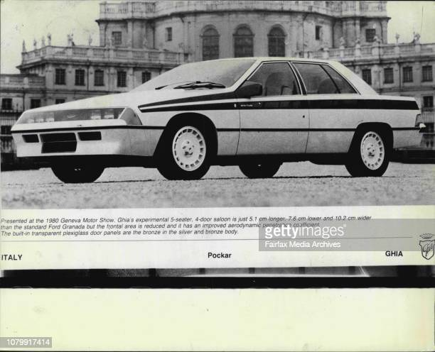 Presented at the 1980 Geneva Motor Show Ghia's experimental 5seater 4door saloon is just 51 cm longer 76 cm lower and 102 cm wider than the standard...