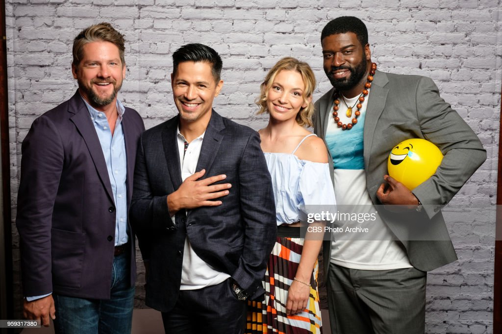 CBS presented its 2018-19 prime time schedule today, Wednesday, May 16, 2018 at Carnegie Hall, followed by a star studded party at The Plaza Hotel in New York City. An array of the Network's new and returning series stars attended both events. Pictured: Zachary Knighton, Jay Hernandez, Perdita Weeks, Stephen Hill