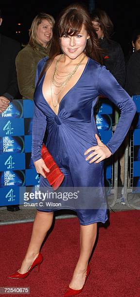 Presenter Abi Titmuss arrives at the UK Music Hall Of Fame 2006 at Alexandra Palace on November 14 2006 in London England