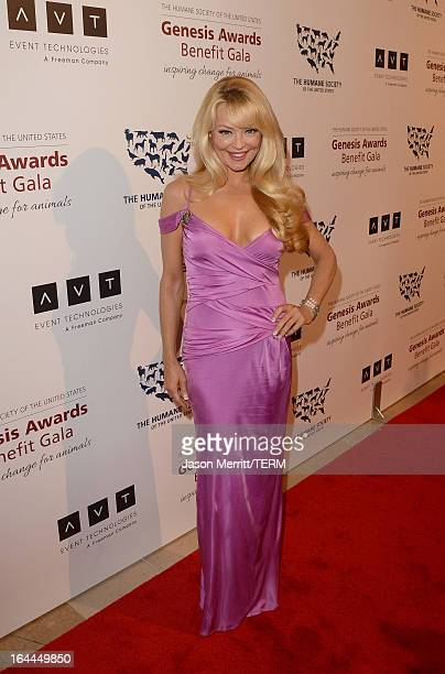 Presenter actress Charlotte Ross attends The Humane Society of the United States 2013 Genesis Awards Benefit Gala at The Beverly Hilton Hotel on...