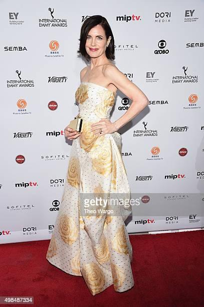 Presenter actress Elizabeth McGovern attends 43rd International Emmy Awards at New York Hilton on November 23 2015 in New York City