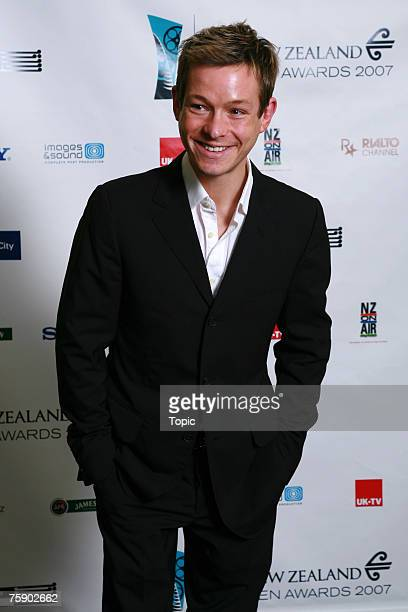Presenter Adam Rickitt poses in the press room on August 1 2007 in Auckland New Zealand