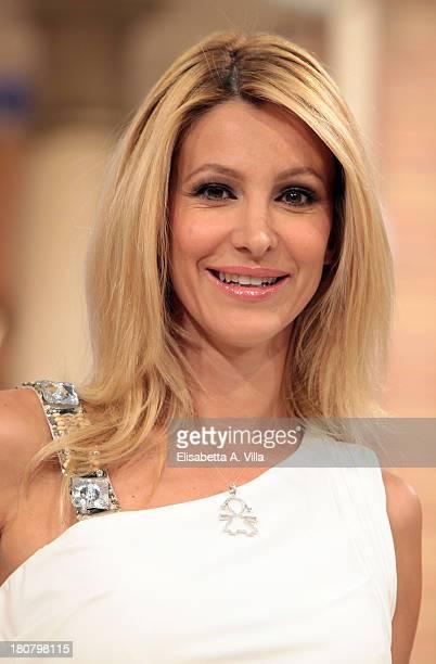 TV presenter Adriana Volpe attends 'I Fatti Vostri' TV Show photocall at RAI Studios on September 16 2013 in Rome Italy