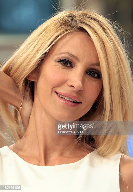 Presenter Adriana Volpe attends 'I Fatti Vostri' TV Show photocall at RAI Studios on September 16, 2013 in Rome, Italy.