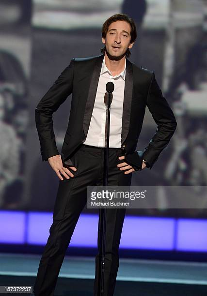Presenter Adrien Brody speaks onstage during the CNN Heroes An All Star Tribute at The Shrine Auditorium on December 2 2012 in Los Angeles California...