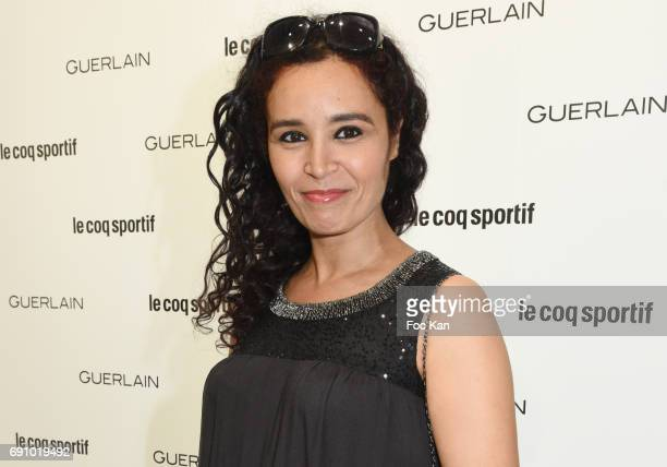 TV presenter Aida attends Le Coq Sportif x Guerlain photocall at the Le Coq Sportif Flagship on May 31 2017 in Paris France Laurence RoustandjeeAida...