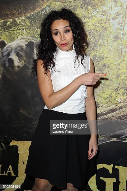 Presenter Aida Touihri attends Le Livre De La Jungle Paris Premiere at Cinema Pathe Beaugrenelle on April 11 2016 in Paris France
