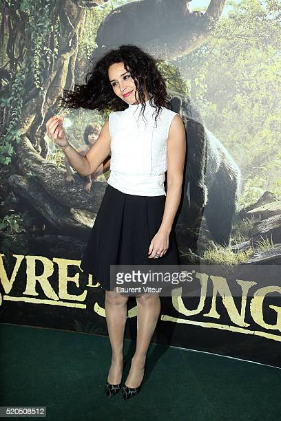 Presenter Aida Touihri attends Le Livre De La Jungle Paris Premiere at Cinema Pathe Beaugrenelle on April 11 2016 in Paris France