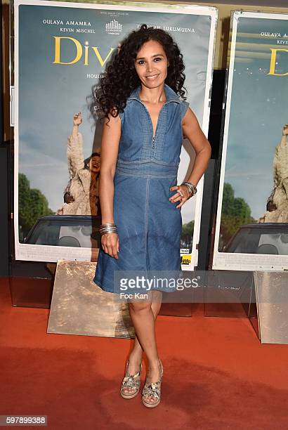 TV presenter Aida TouihriÊattends the 'Divines' Paris Premiere at UGC Cite Cine des Halles on August 29 2016 in Paris France