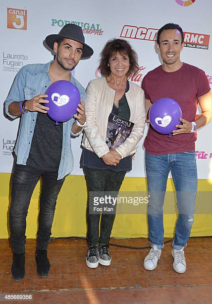 TV presenter Alban Bartoli Stephanie Fugain and Romain Migdalski NRJ 12 attend the 'Fete A Neu Neu' Opening Party to Benefit Laurette Fugain Against...