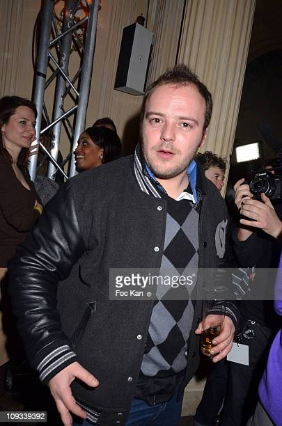 Presenter Alban Ivanov attends the 'Canal Street' Concert Party at Cafe Carmen on January 26, 2011 in Paris, France.