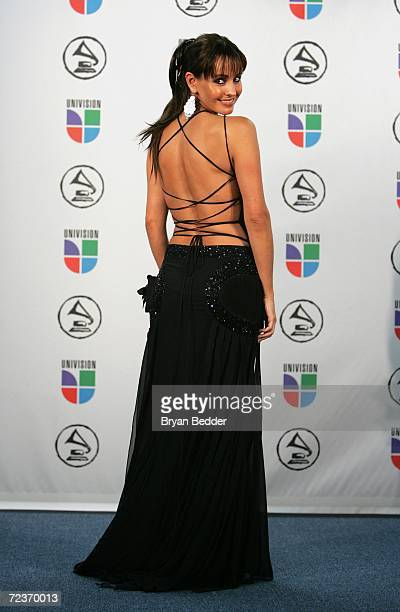 Presenter Alejandra Barros poses in the press room at the 7th Annual Latin Grammy Awards at Madison Square Garden November 2 2006 in New York City