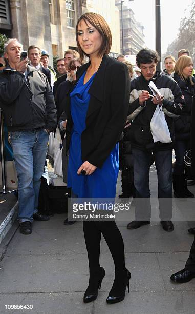 TV presenter Alex Jones attends The TRIC Awards at The Grosvenor House Hotel on March 8 2011 in London England