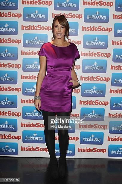 TV presenter Alex Jones from the BBC The One Show attends the Inside Soap Awards 2011 at Gilgamesh on September 26 2011 in London England
