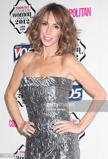 Presenter Alex Jones poses in the press room at the Cosmopolitan Ultimate Woman of the Year awards at the Victoria Albert Museum on October 30 2012...
