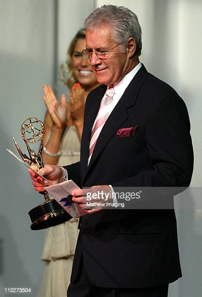 Presenter Alex Trebek during The 33rd Annual Daytime Creative Arts Emmy Awards in Los Angeles Show at The Grand Ballroom at Hollywood and Highland in...