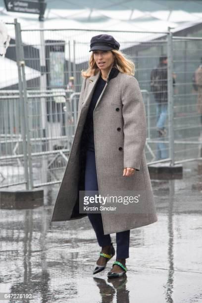 TV presenter Alexandra Golovanoff on day 2 during Paris Fashion Week Autumn/Winter 2017/18 on March 1 2017 in Paris France