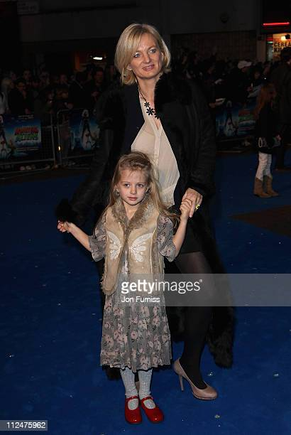 TV presenter Alice Beer and her daughter attend the 'Monsters Vs Aliens' film premiere held at the Vue West End cinema on March 11 2009 in London...