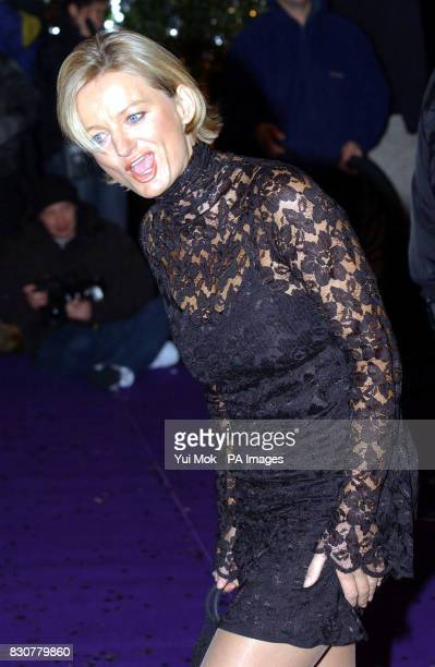 Presenter Alice Beer arriving for the British Comedy Awards 2001, at London Weekend Television Studios in London