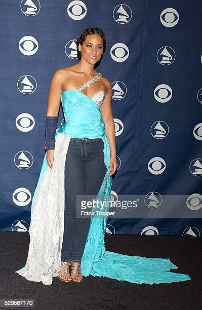 Presenter Alicia Keys in the press room at the 46th annual Grammy Awards