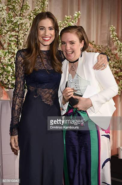 Presenter Allison Williams and honoree Lena Dunham attend the 8th Annual Blossom Ball benefiting the Endometriosis Foundation of America hosted by...
