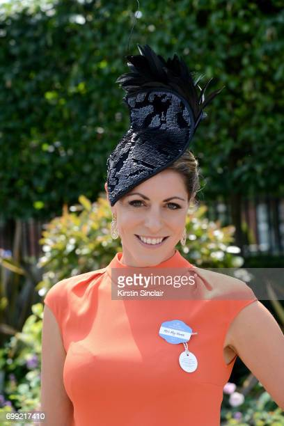 Presenter Aly Vance attends day 2 of Royal Ascot at Ascot Racecourse on June 21 2017 in Ascot England