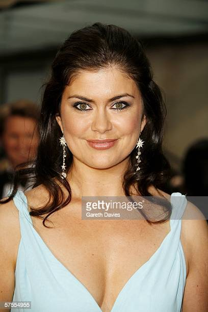 TV presenter Amanda Lamb arrives at the Pioneer British Academy Television Awards 2006 at the Grosvenor House Hotel on May 7 2006 in London England