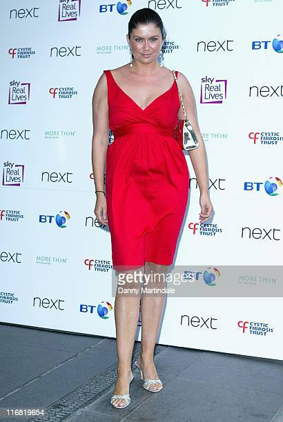 TV presenter Amanda Lamb attends the Breathing Life Awards at the Hilton Metropole Hotel on May 28 2008 in London England