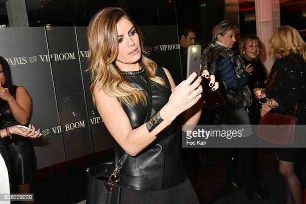 TV presenter Amelie Bitoun attends Black Whyte Party by Edouard Nahum to celebrate his new Jewellery store in Aspen Colorado At VIP Room Theater on...