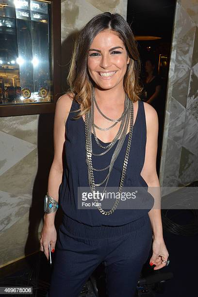 TV presenter Amelie Bitoun attends the 'Globes De Cristal' 2015 Award Ceremony At The Lido on April 13 2015 in Paris France