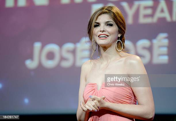 Presenter Ana Barbara speaks onstage at the '2013 Latinos de Hoy Awards' Sponsored by OneLegacy on Saturday October 12 at Los Angeles Times Chandler...