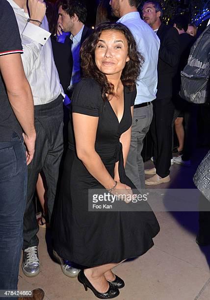 TV presenter Anais Baydemir attends the 'Hublot Blue' cocktail party At Monsieur Bleu Palais De Tokyo on June 24 2015 in Paris France