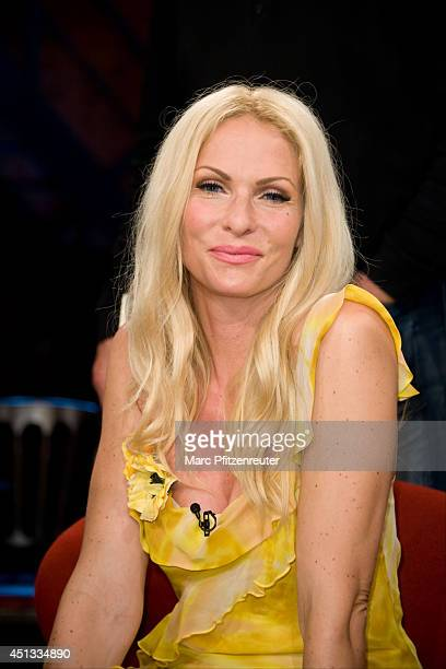 Presenter and actress Sonya Kraus attends the 'Koelner Treff' TV Show at the WDR Studio on June 27 2014 in Cologne Germany