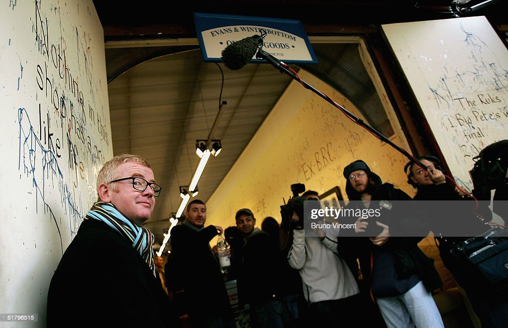 TV presenter and business entrepreneur Chris Evans a poses at Camden Stables Market on November 27, 2004 in London. Evans is to sell off furniture and a Jaguar car, which have been in storage following the sales of several of his properties, at the popular London market.