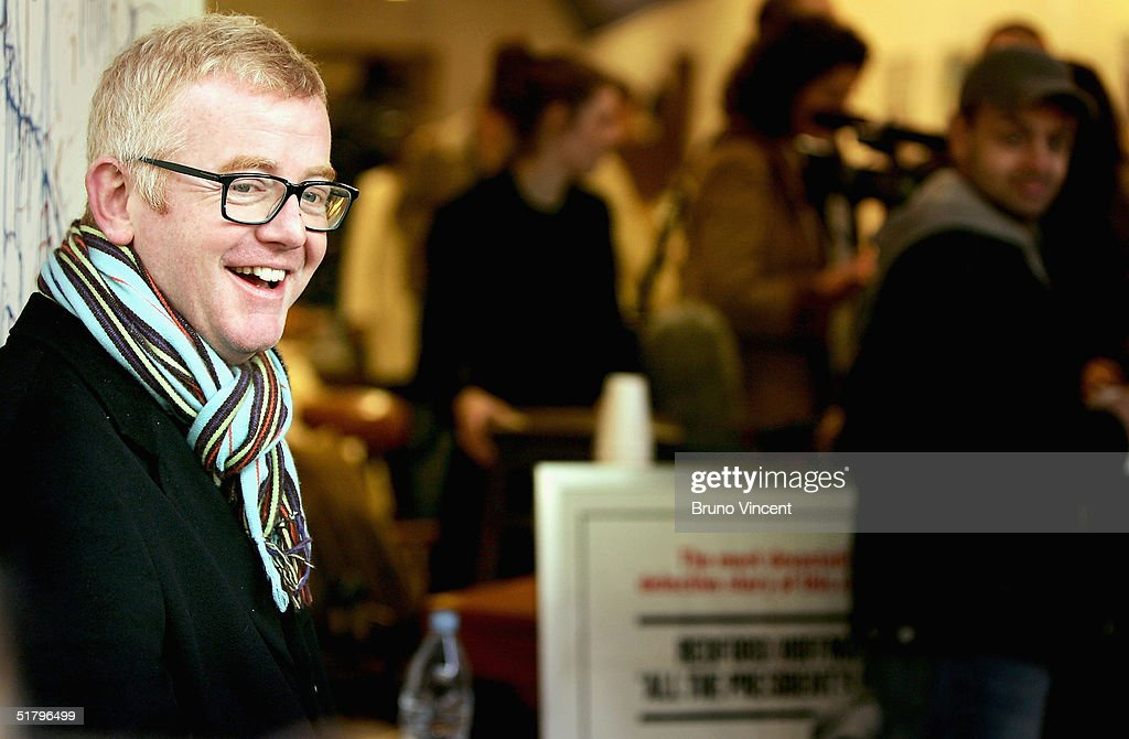 TV presenter and business entrepreneur Chris Evans sells his wares at Camden Stables Market on November 27, 2004 in London, England. He is selling off furniture and a Jaguar car, which have been in storage following the sales of several of his properties.
