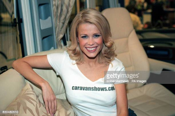 TV presenter and model Melinda Messenger opening the 2000 Caravan and Outdoor Leisure Show at Earl's Court London The mother of sixmonthold baby...