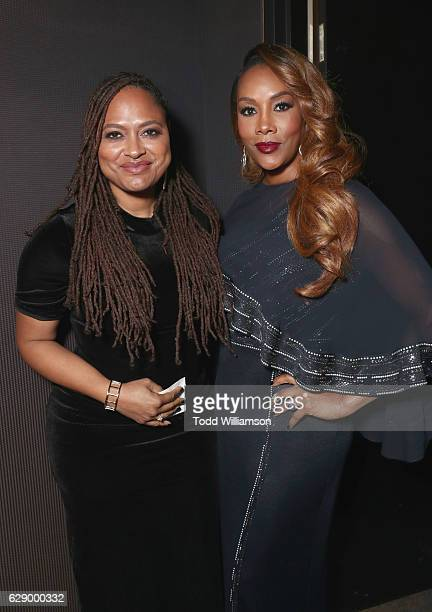 Presenter and nominee Ava DuVernay and host Vivica A Fox attend the 32nd Annual IDA Documentary Awards at Paramount Studios on December 9 2016 in...