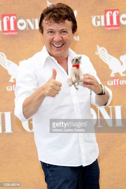 Presenter and Singer Enzo Ghinazzi also known as Pupo attends a photocall during Giffoni Experience 2010 on July 23 2010 in Giffoni Valle Piana Italy