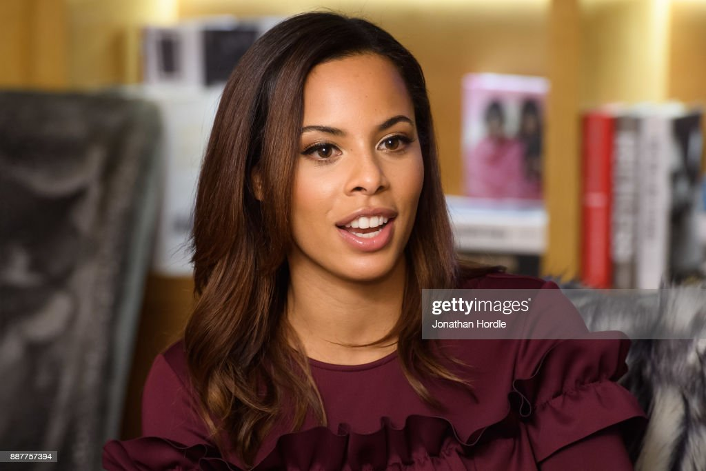 TV presenter and singer Rochelle Humes is pictured at the launch of a new PayPal study into last minute Christmas shopping. The research reveals the unusual places where people are shopping on their smartphones, with an estimated 8 million Brits squeezing in their gift shopping on the loo. Speaking at the launch in central London, Rochelle Humes said, 'I don't shop on the toilet, I'm not in there long enough! I have to admit I've done some Christmas shopping in the bath though. It's just the only time I get some time to myself, and can get some gifts in secret. My phone's supposed to be waterproof so why not? And you don't even need to reach for your card anymore when you use a digital wallet like PayPal. I'm pretty much done with my presents for this year now. Just one more to get for Marvin!'. on December 7, 2017 in London, England.