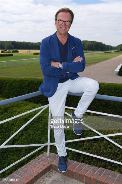 Presenter and singer Wolfgang Lippert during the press conference for 'radio B2 SchlagerHammer' at Hoppegarten on June 12, 2018 in Berlin, Germany....