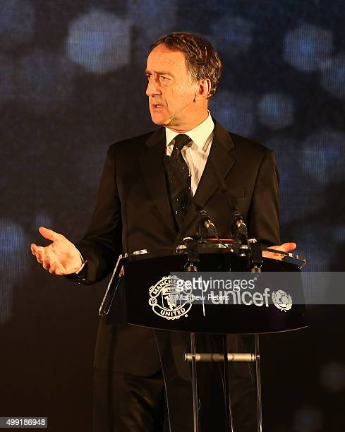 TV presenter Angus Deayton hosts the United for UNICEF Gala Dinner at Old Trafford on November 29 2015 in Manchester England