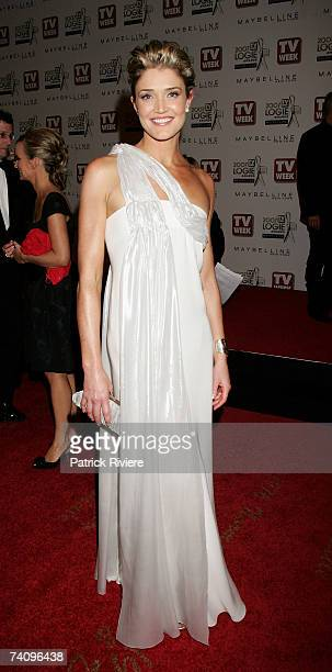 Presenter Anna Coren arrives at the 2007 TV Week Logie Awards at the Crown Casino on May 6 2007 in Melbourne Australia The annual television awards...
