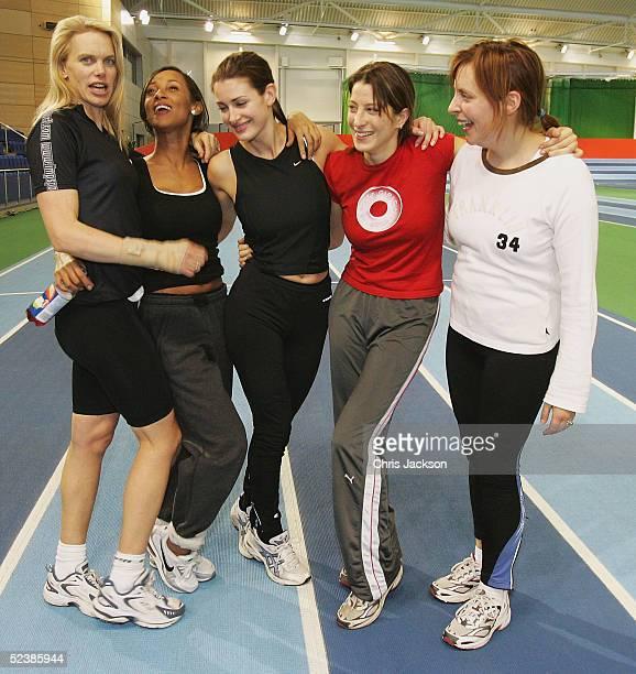 Presenter Anna Walker, pop star Lisa Maffia, TV presnter Kirsty Gallacher, Princess Tamara Czartoryski-Borbon, cousin of the King of Spain, and TV...