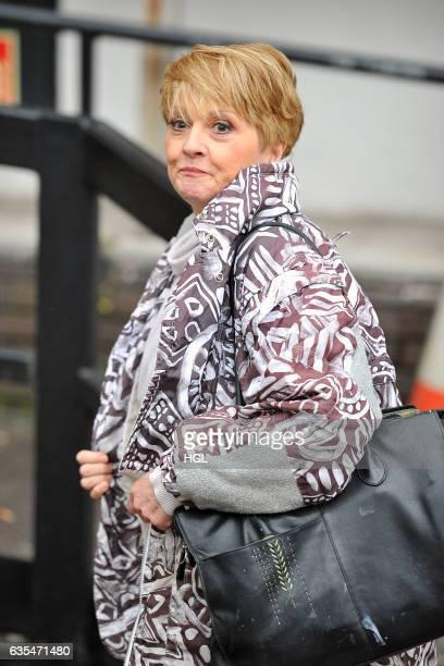 Presenter Anne Diamond seen at the ITV Studios on February 15 2017 in London England