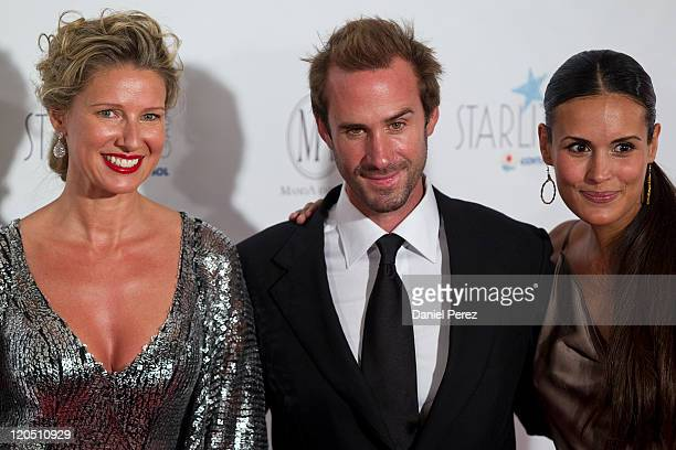 TV presenter Anne Igartiburu actor Joseph Fiennes and Maria Dolores Dieguez arrive for the Starlite Charity Gala at the Villa Padierna hotel on...