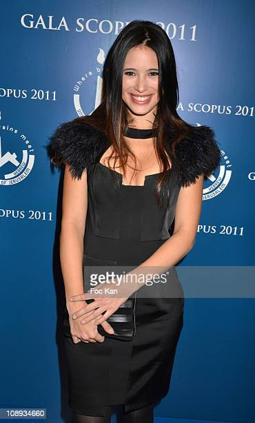 TV presenter Anne Solenne Hatte attends the 'Scopus 2011 Awards' Tribute to Charles Aznavour' at Theatre des ChampsElysees on January 23