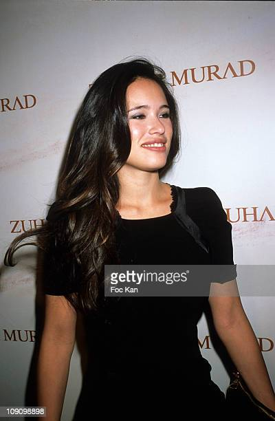 TV presenter Anne Solenne Hatte attends the Zuhair Murad Front Row Paris Fashion Week Haute Couture S/S 2011 at the Hotel Ritz on January 26 2011 in...