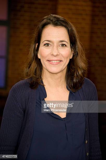 Presenter Anne Will attends the Koelner Treff TV Show at the WDR Studio on February 21 2014 in Cologne Germany